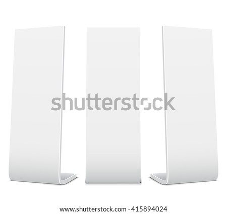 Blank Promotional Stands on a white background - stock vector
