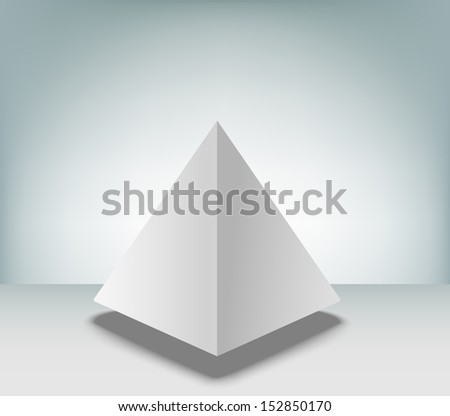 blank pyramid on white background