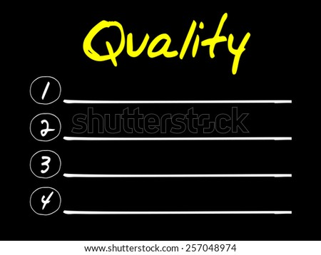Blank Quality list, business concept - stock vector