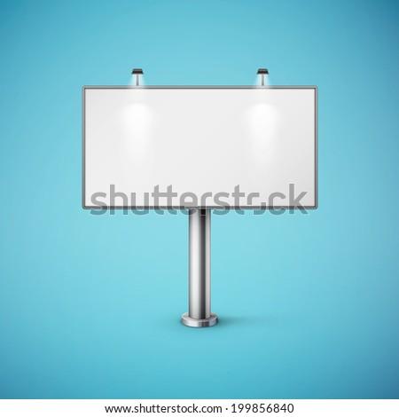 blank realistic billboard eps10 vector illustration - stock vector