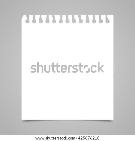 Blank realistic spiral notepad notebook isolated on gray background - stock vector
