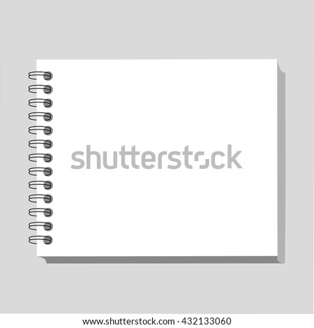 Blank realistic spiral notepad notebook.Template for your design.