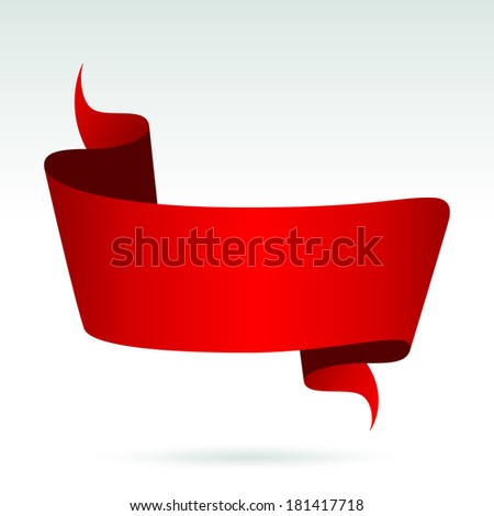 Blank Red Banner. Vector