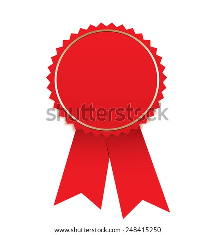 Blank  red label - stock vector
