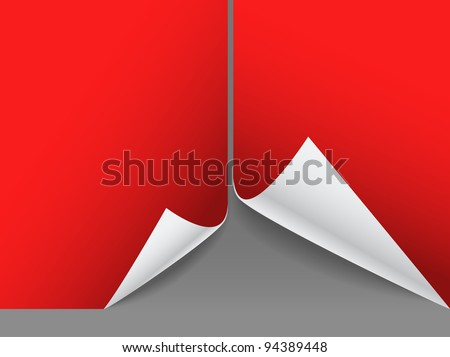 Blank red paper sheets - stock vector