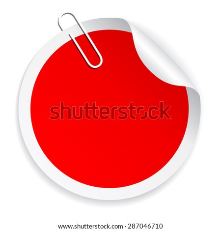 Blank red sticker - stock vector