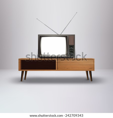 Blank Retro television Vector Illustration