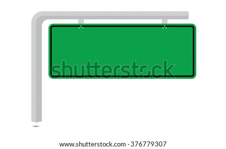 Blank road sign attached to a pole isolated on white background. Can be applied by adding text or trading symbol to be used in your job.