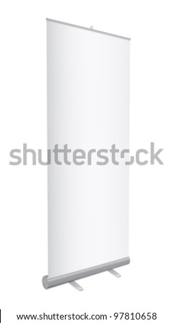 Blank Roll-up banner - stock vector