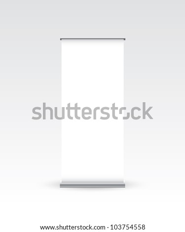 Blank roll up banner - Vector EPS10 - stock vector