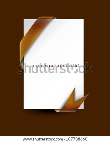 Blank sale tag. brown ribbons. Vector illustration. - stock vector