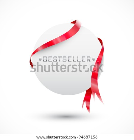 Blank sale tag. Circle paper - stock vector
