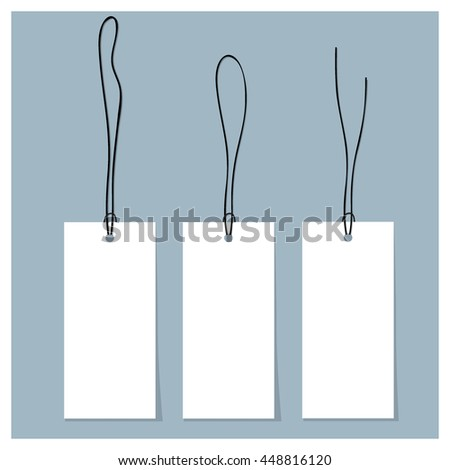 Blank sale tags design template. Vector illustration.