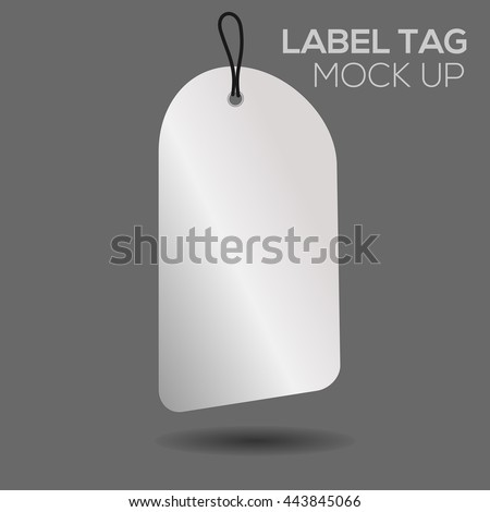 Blank Sale Tags Mock On Dark Stock Vector   Shutterstock