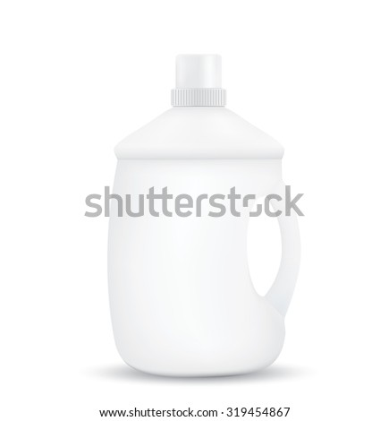Blank shampoo bottles isolated on white background