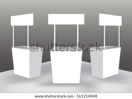 Blank shelter display stand vector - stock vector