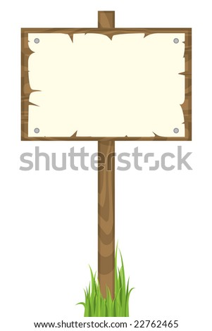 Blank sign post - stock vector