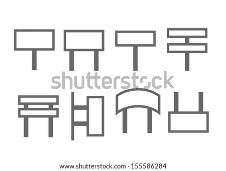 Blank signpost - stock vector