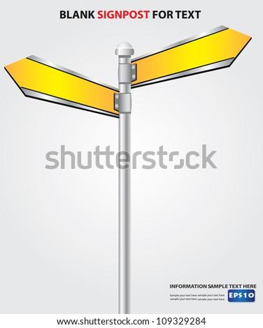 Blank signpost,Vector - stock vector