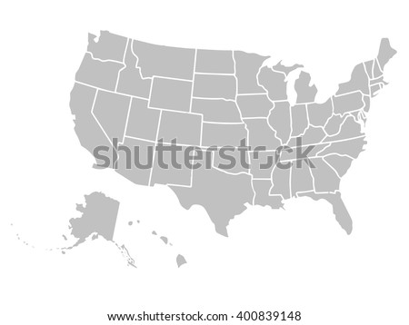 United States Of America Stock Images RoyaltyFree Images - Usa map plain
