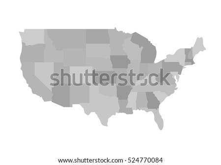 Us State Map Stock Images RoyaltyFree Images Vectors - Us map with states vector