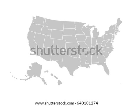 Blank similar usa map isolated on stock vector 577755412 blank similar usa map isolated on white background united states of america country vector pronofoot35fo Images
