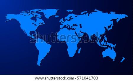 Blank similar world map template web stock vector 571041703 blank similar world map template for web business infographics design on blue background gumiabroncs Choice Image