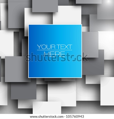 Blank square background for Your Text - Realistic 3D Vector Background