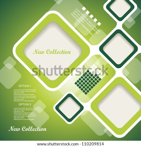 Blank square background for Your Text - Realistic 3D Vector Background - stock vector