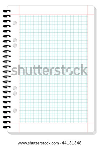 Blank squared pad design - vector illustration