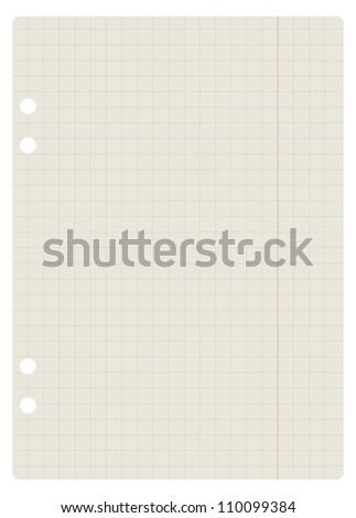 blank squared paper sheet - illustration - stock vector