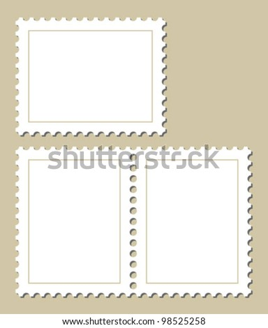 blank stamp template stock vector 98525258 shutterstock. Black Bedroom Furniture Sets. Home Design Ideas