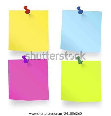 Blank Sticky Note - stock vector