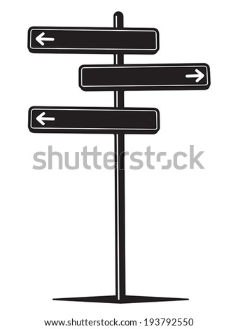 Blank street sign - stock vector
