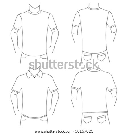 blank t shirt set (front and back view)