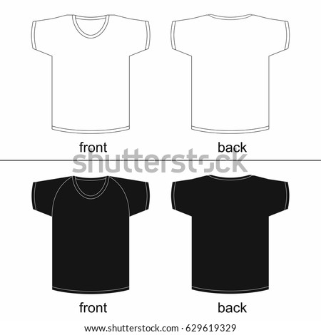 blank t shirt template front and back for printable vector fashion