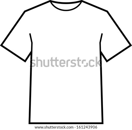 blank tshirt template vector stock vector royalty free 161243906 shutterstock. Black Bedroom Furniture Sets. Home Design Ideas
