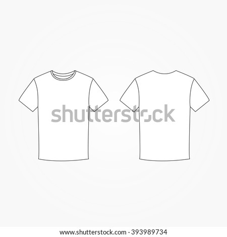 Blank t-shirt template vector - stock vector