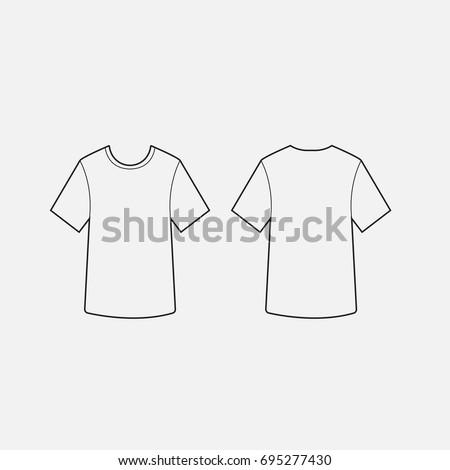 Blank Tshirt Template Vector Stock Vector - Blank tshirt template