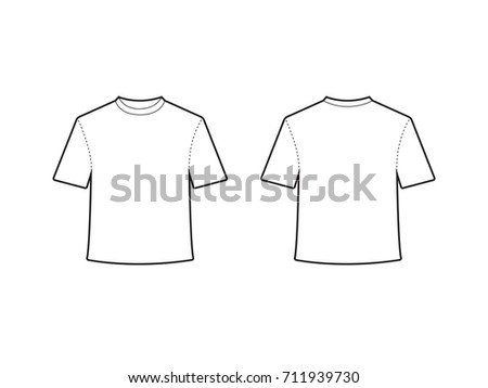 Blank Tshirt Template Vector Stock Photo Photo Vector - Blank tshirt template