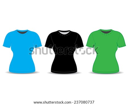 Blank t-shirt template. vector illustration