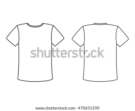 blank t shirt vector template simple white shirt with a black outline copy