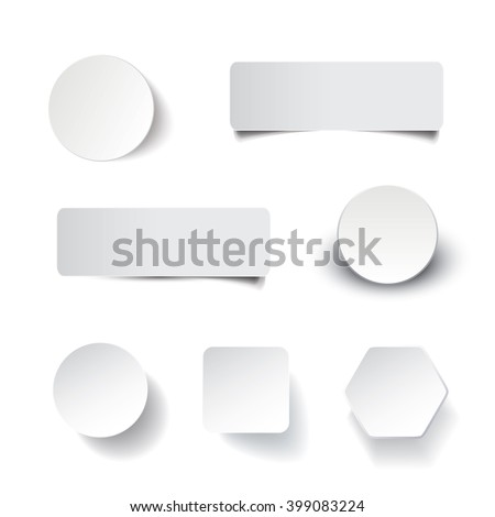 Blank Tag, Label, Banner Designs - stock vector
