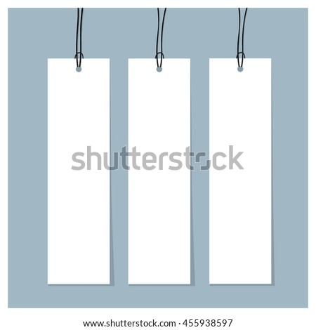 Blank Tags. Ready for your design. Vector illustration.