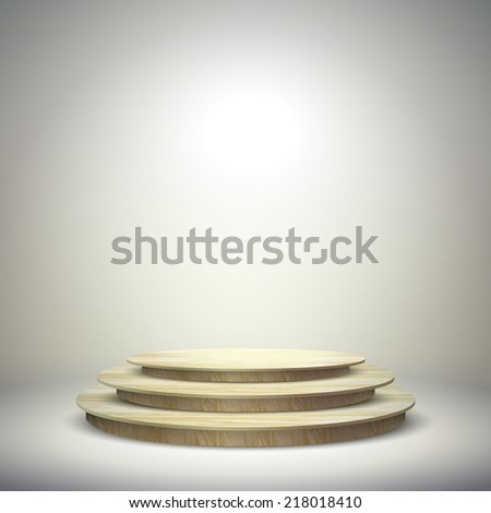 blank template layout of wooden empty stage - stock vector