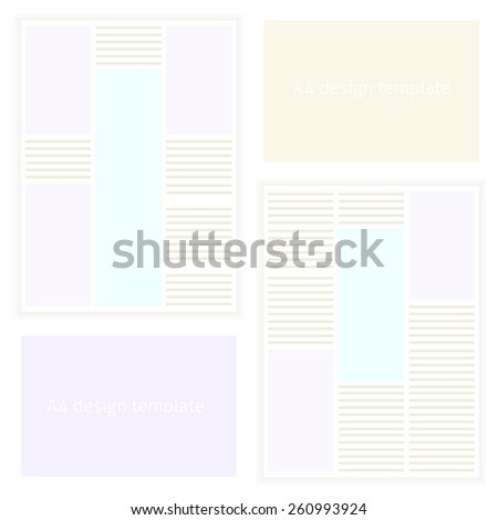 Blank template set or collection in vector. Modern flat design - stock vector