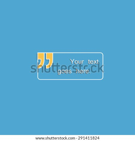 Blank text box with speech quotes.FAQ. - stock vector