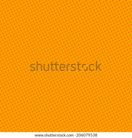 Blank Text - Orange dot for comic on yellow background vector - stock vector