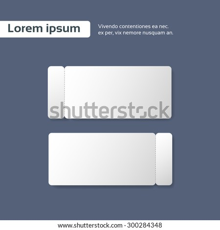 Blank Ticket Paper Sheet Cut Line, Empty Page Vector illustration - stock vector