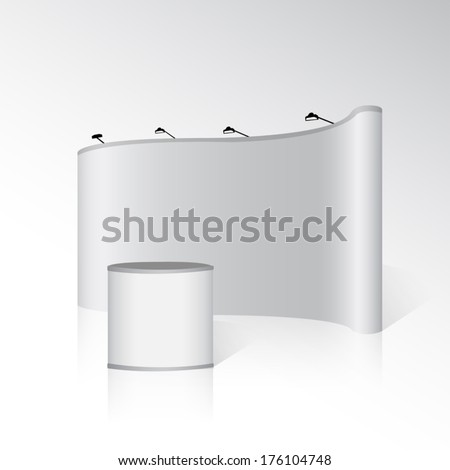 Blank trade display isolated on background vector - stock vector